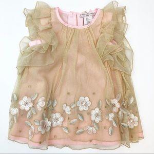 2T CATHERINE MALANDRINO blush dress
